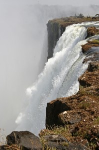 Victoria Falls up close