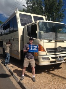 "With the ""Battle Bus"" day 1 Namibia"