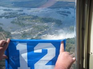 Over Victoria Falls