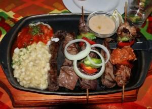 Mama Africa wild game platter