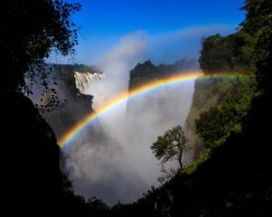 Victoria Falls + rainbow