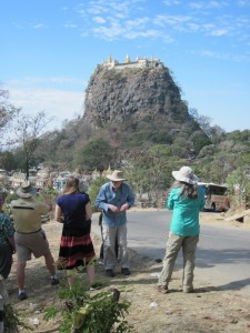 Imprint travelers at Mt Popa