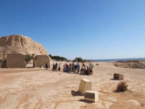 Imprint group completely alone at Abu Simbel