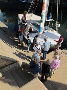 Boarding our felucca
