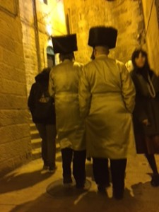 Hassidic Jews at Western Wall