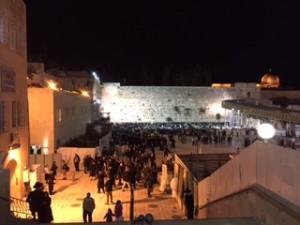 Western Wall on Sabbath evening