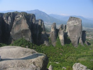 Stone towers of Meteora (photo by Maia Coen)