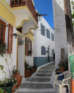 Nisyros village street (photo by Maia Coen)