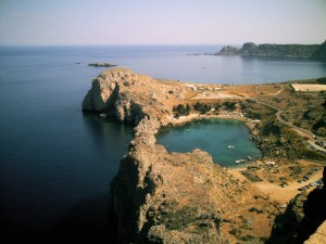 Lindos' tiny cove