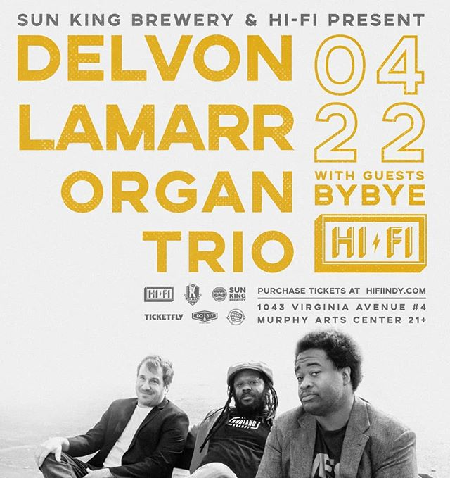 Come dance with us and the great @delvon_lamarr_organ_trio April 22nd at @thehifiindy ! You don't want to miss this show! Link to tickets in our bio! @sunkingbrewing #hifiindy #DLO3 #coolorganmusic #funk #rock #soul #blues #rhythmandblues #seattle #indy #indianapolis