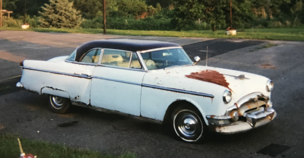 The Packard shortly after we brought it home.