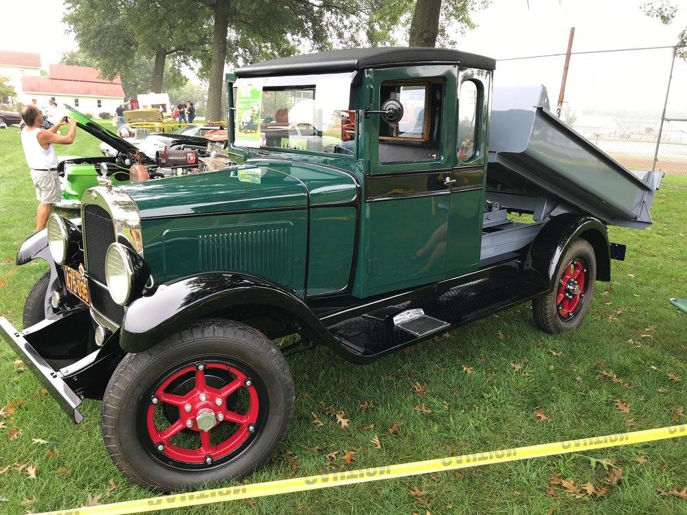 1929 Whippet Overland 1.5-ton dump truck.