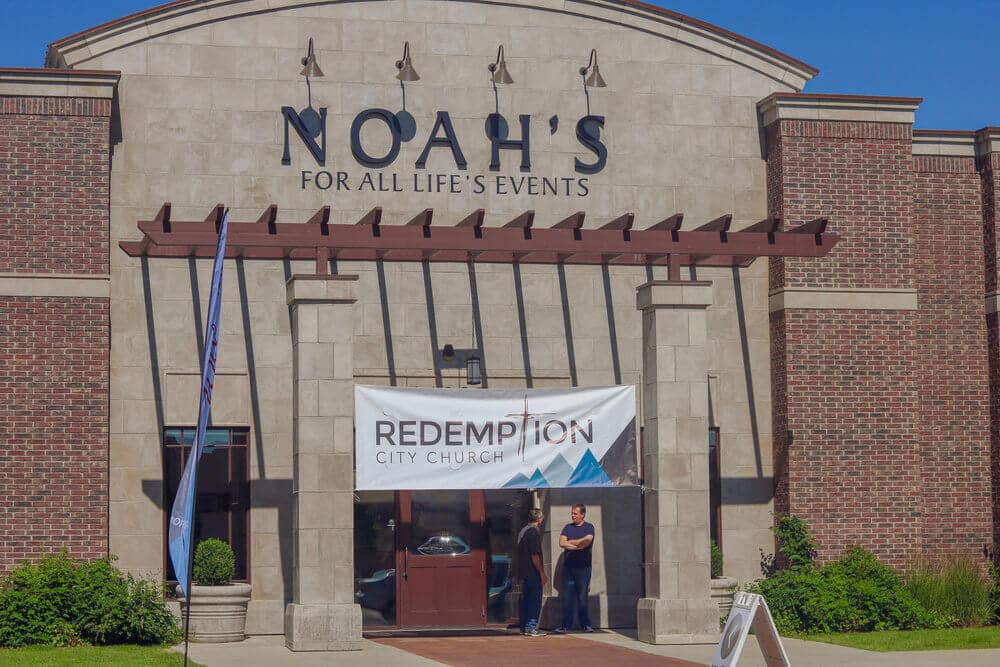 Front of building for Redemption City Church, Westminster, CO