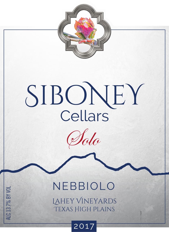 2017 Solo Nebbiolo - $32