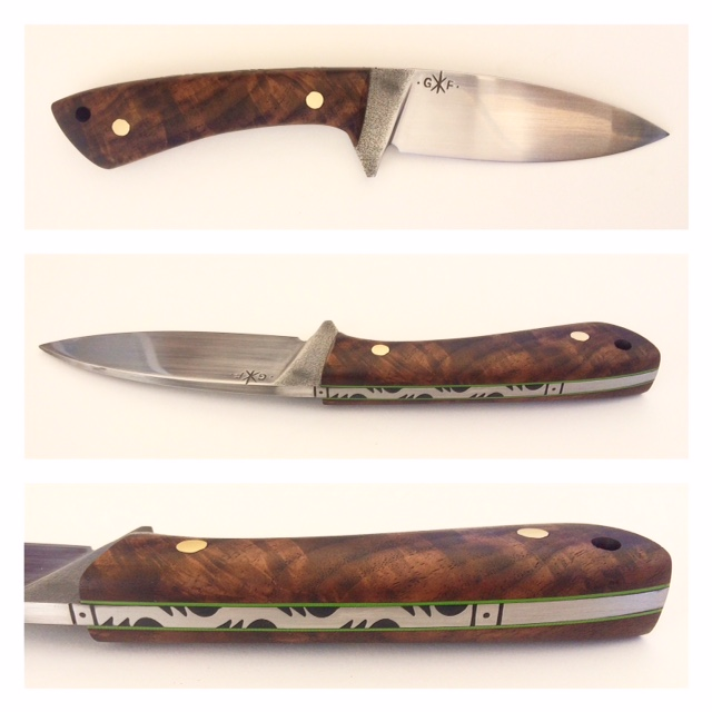 bull elk with walnut burl