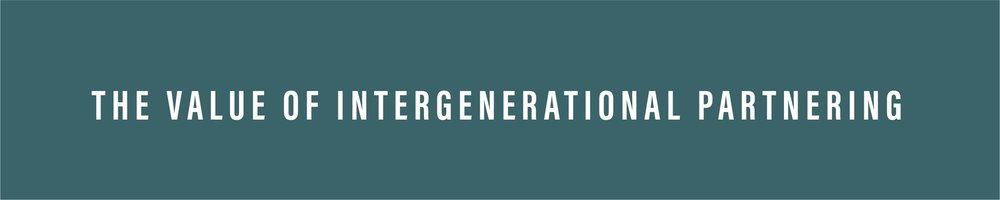value of intergenerational partnering
