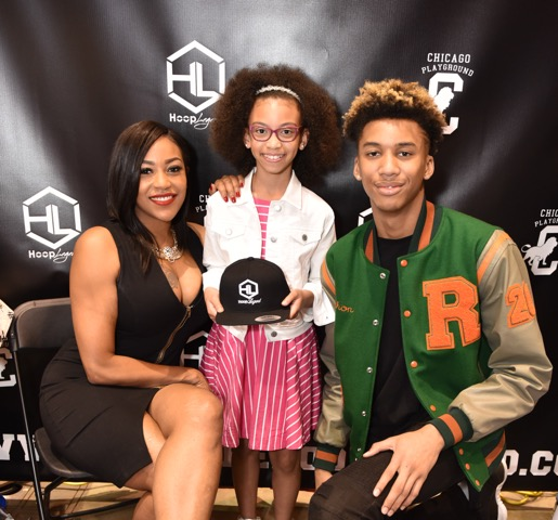 Celebrities of Bringing up Ballers Nikki B. and Shon Robinson with Alyssia Duda