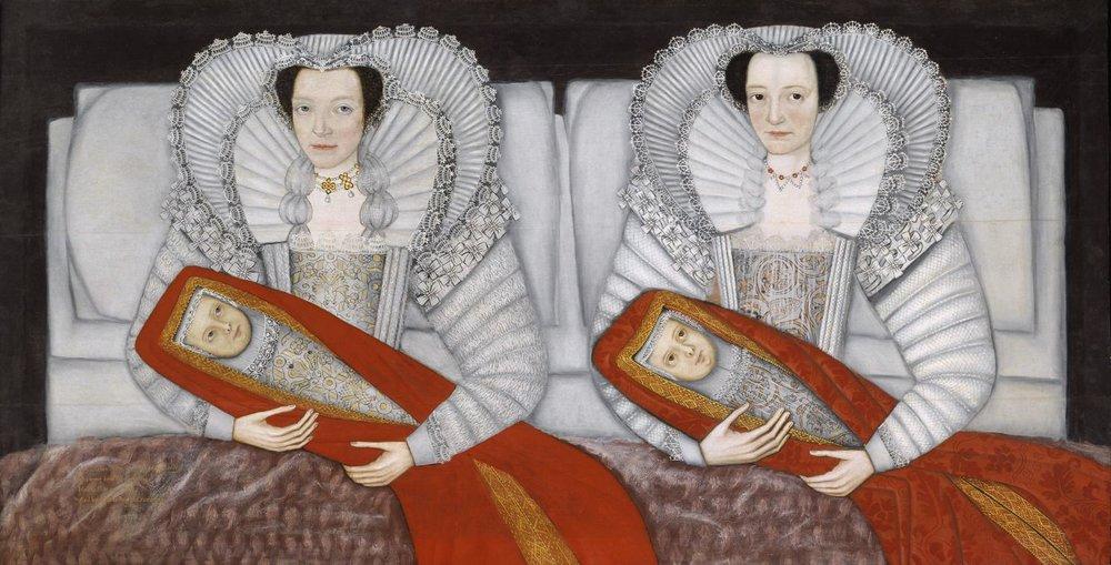 The portrait of the Cholmondeley Ladies c. 1600-1610 #twins