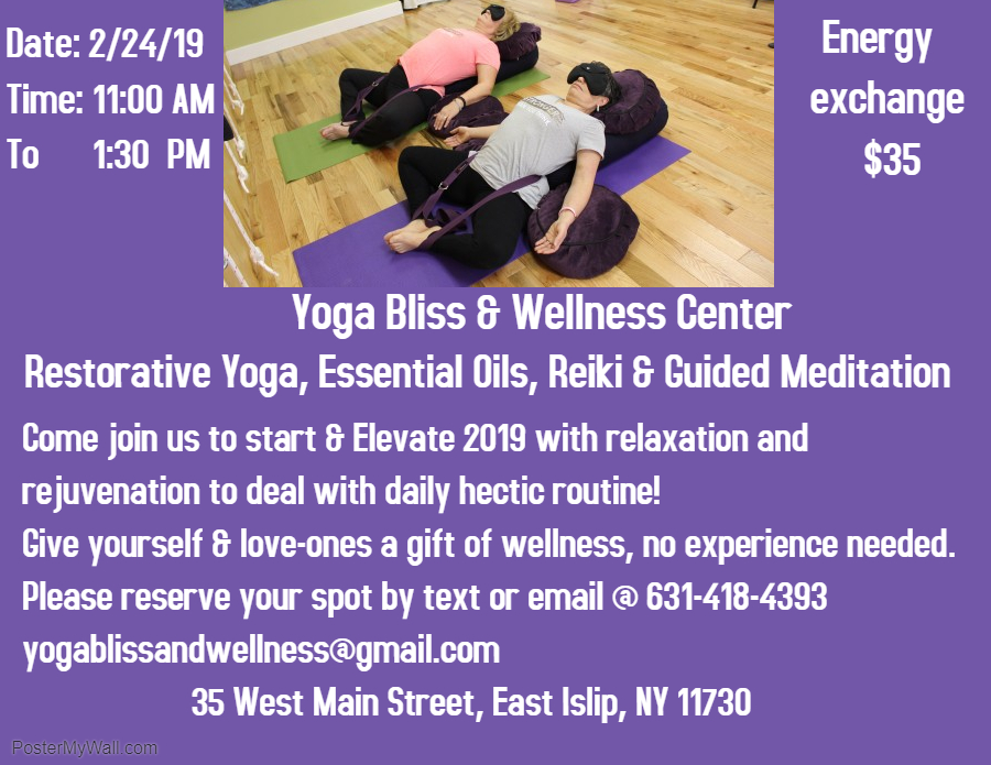 Rest Relax & Restore — YOGA BLISS & WELLNESS CENTER