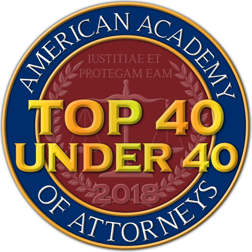 American Academy of Attorneys Top 40 Coin.png