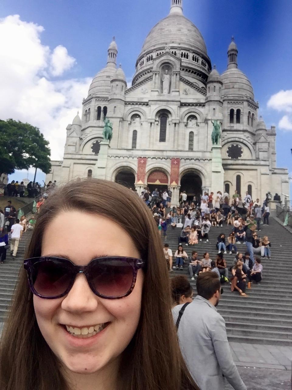 Selfie at Le Sacre Coeur in Paris :)