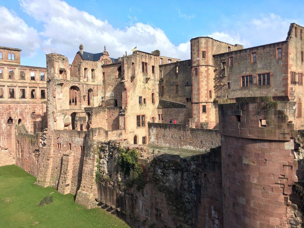 We loved the castle in Heidelberg, Germany