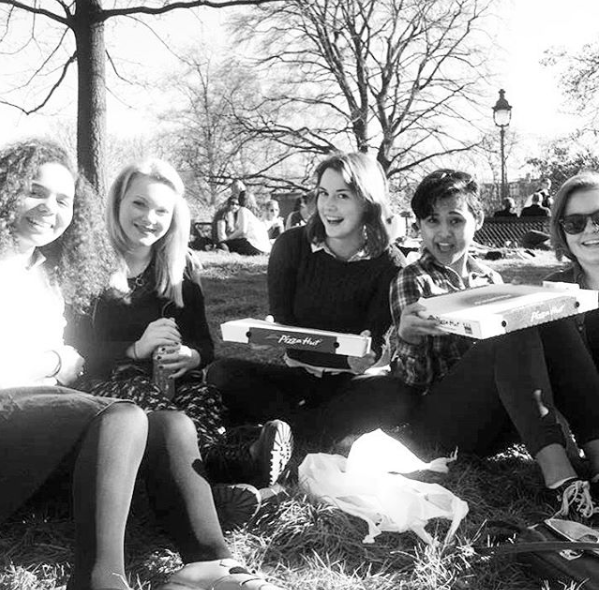 retro pic of us back as au pairs! Love to the 17th arr group :D