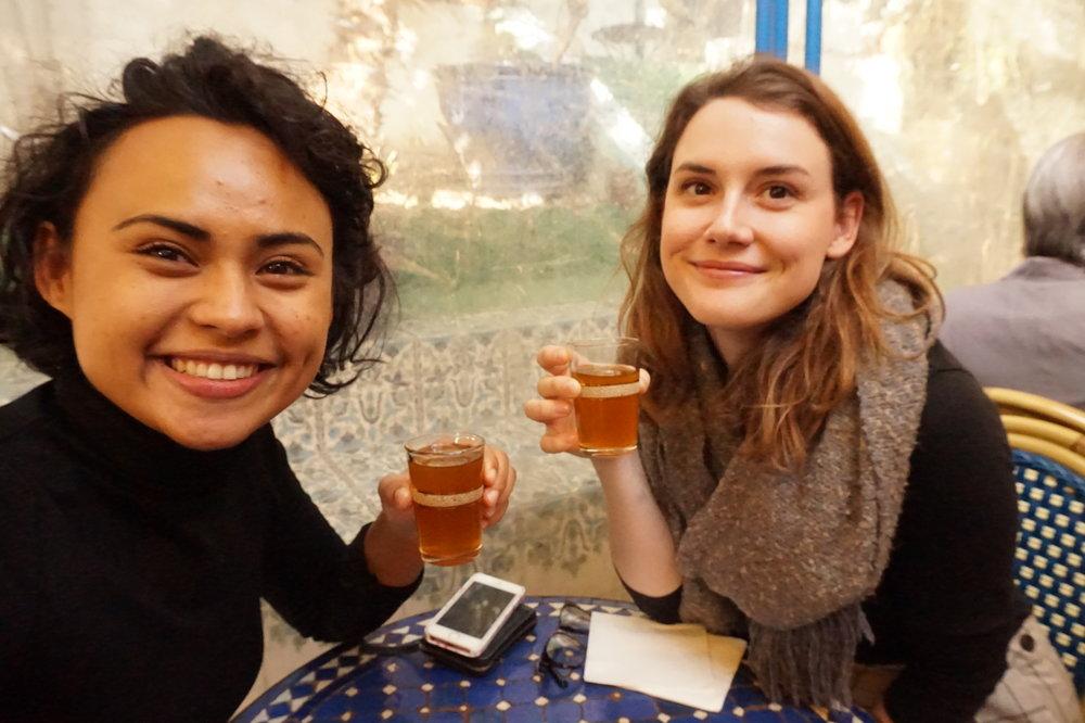 Au pairing taught us that the Grande Mosquée de Paris has delicious tea which is only €2. Mmm!