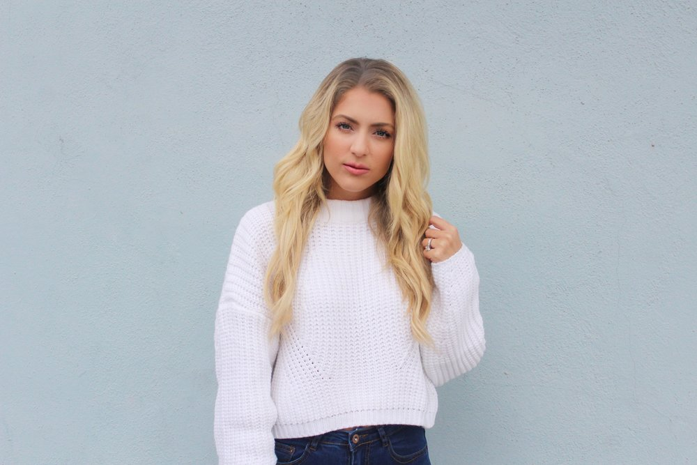White Zaful Sweater