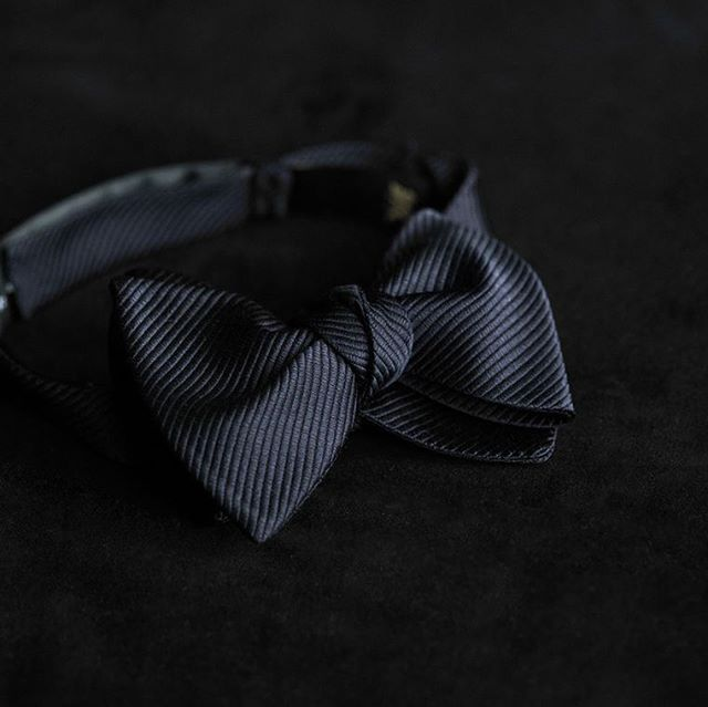 Dark navy silk grosgrain