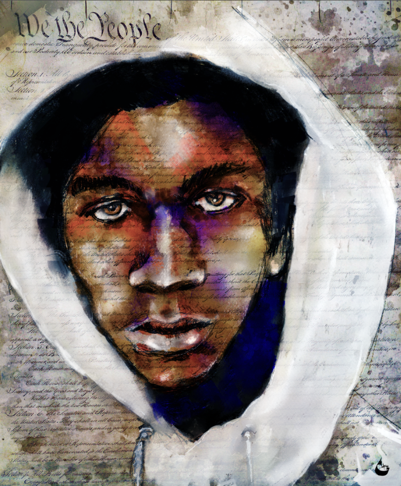 We The People: Trayvon Martin © Howard Barry. Used with permission of the artist.