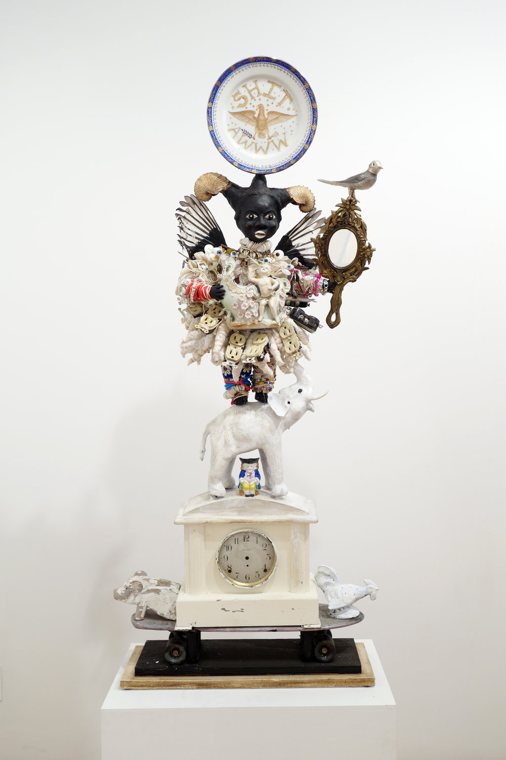 Resilience, 2013, Mixed-media assemblage 55 x 21 x 11 3/4 inches, © Vanessa German, courtesy of the artist and Pavel Zoubok Gallery, New York.