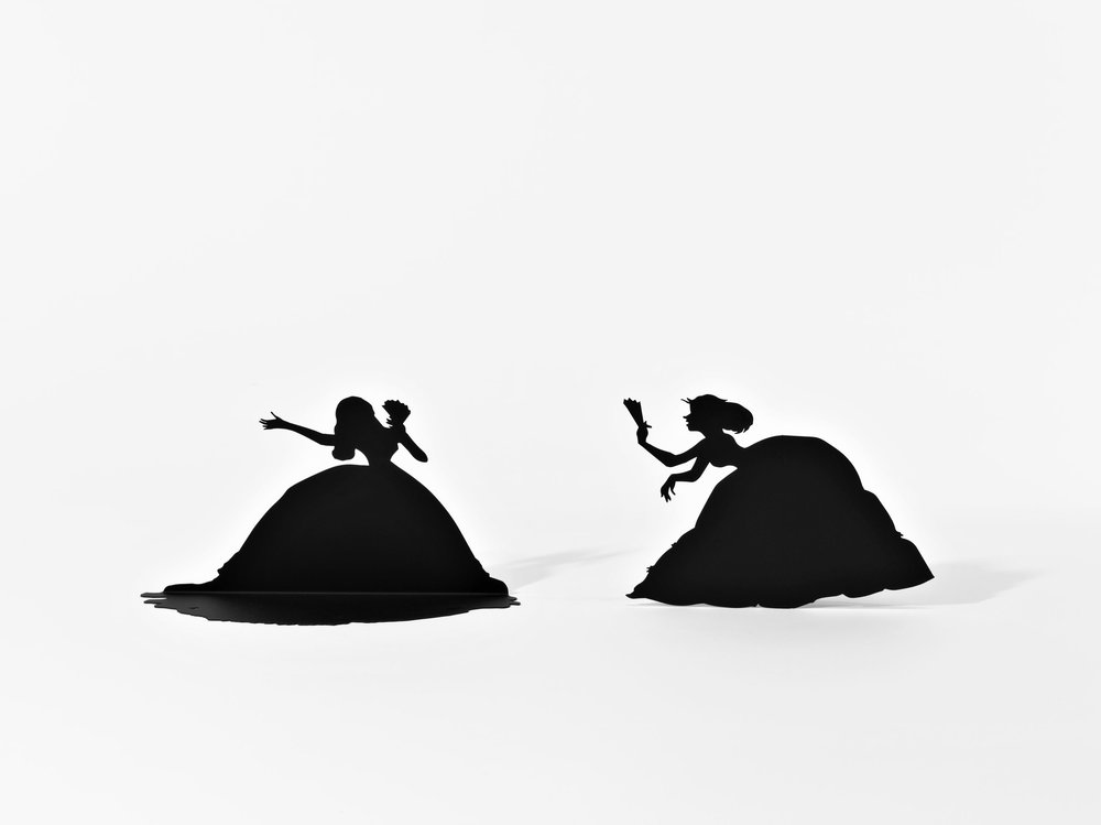 """Detail,"" Burning African Village Play Set with Big House and Lynching, 2006. Painted laser cut steel, 22 parts, dimensions variable © Kara Walker. Images courtesy of Sikkema Jenkin & Co., New York"