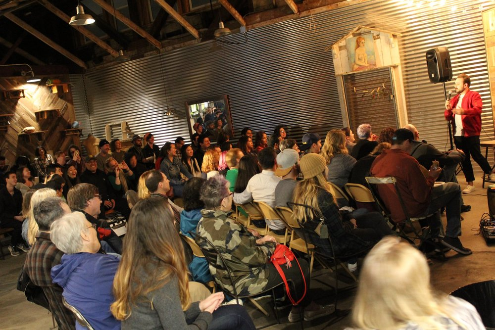 super stacked: free comedy in a woodshop