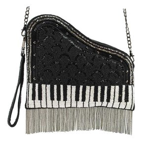 01d914d78958 On That Note Embellished Leather Piano Crossbody Wristlet Handbag ...