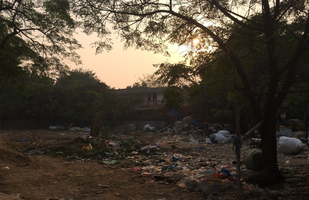 Pollution in the suburbs of New Delhi