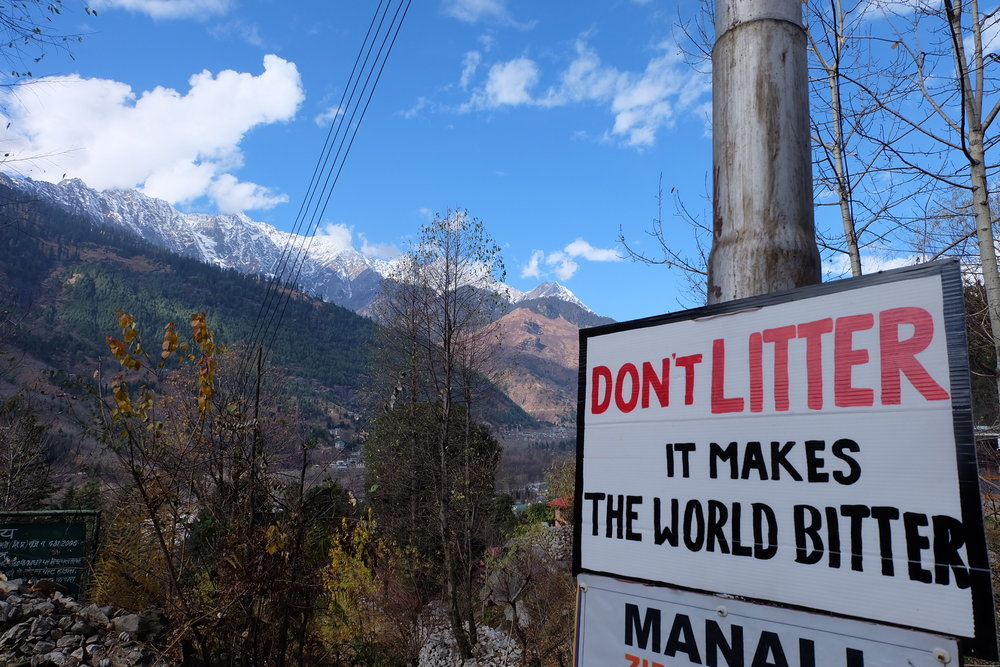 One in a series of signs found in Manali