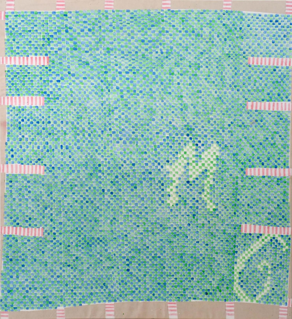 Snake Checkerfield MG , 2016, acrylic and primer on canvas, 178 x 163cm