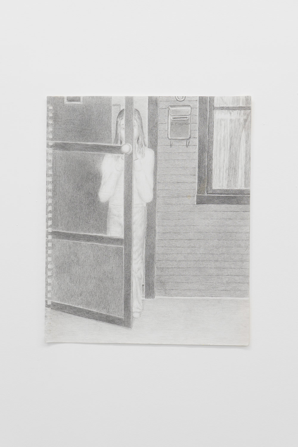 Guy Church,  The Great Outside World,  2017  Graphite on paper, 42 x 33cm  Image credit: Ruben Bull-milne