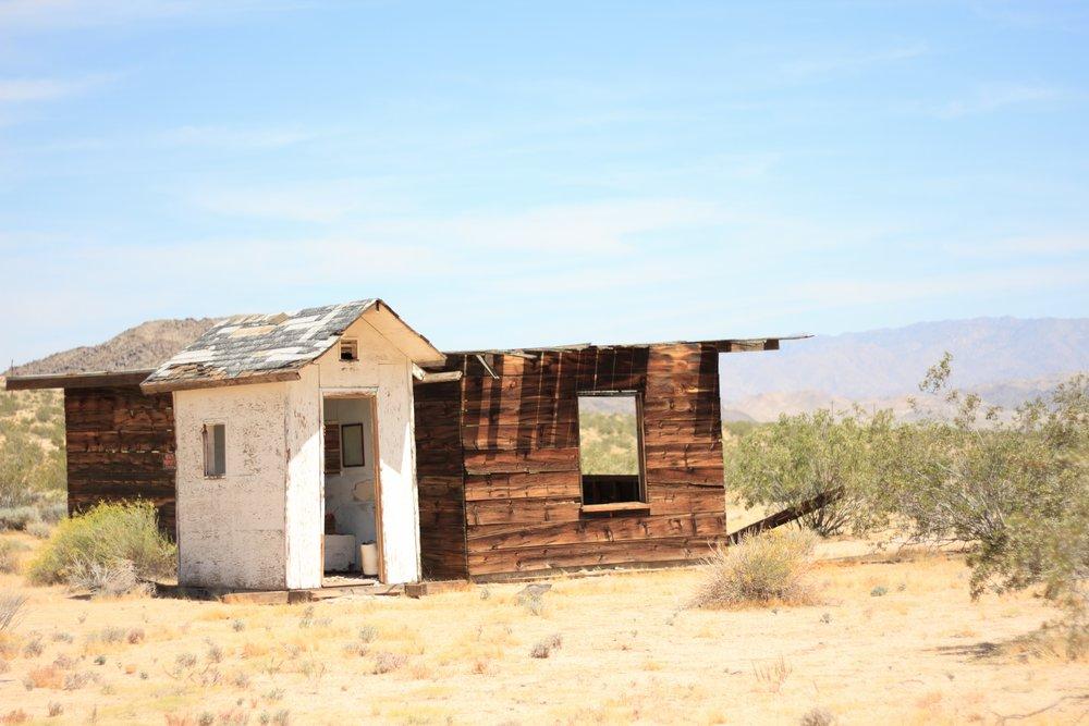 Abandoned cabins, Joshua Tree, California. Sweet/Nothing Oracle 2017.