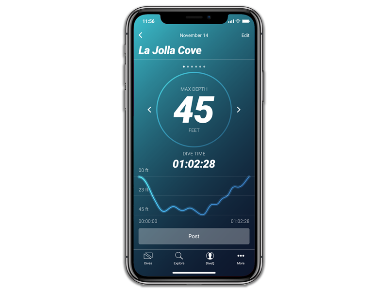 STAY CONNECTED - Out of the water, MAZU syncs over Bluetooth with the MAZU app putting everything you need right at your fingertips. Review dive time, depth, temperature, and more!