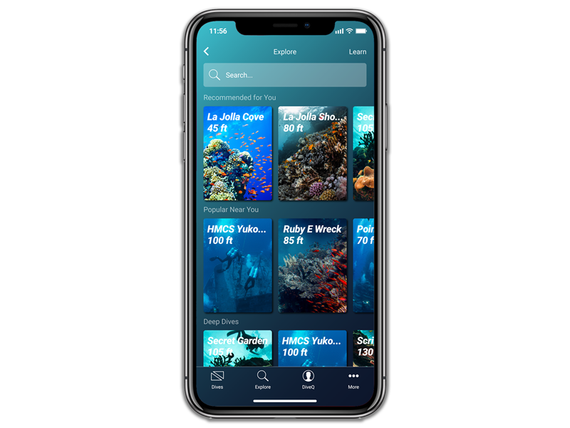 EXPLORE NEW ADVENTURES - MAZU uses your DiveQ to recommend new dives, new adventures, or even new dive buddies. Explore popular adventures or search dives around the world that are perfect for you!