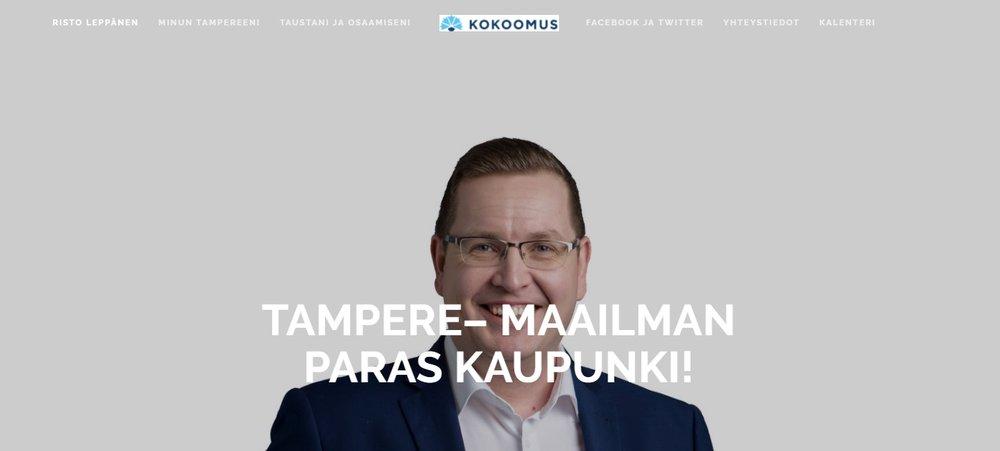 """Olemme toteuttaneet Risto Leppäsen vaalikampanjaan verkkosivujen kehitystä sekä vaalikampanjan markkinoinnin suunnittelua.  """"Teron kanssa työskentely on ollut idearikasta ja luontevaa. Arvostan Teron kykyä kuunnella ja löytää minulle sopivia ratkaisuja. Tämän ansiosta löysimme verkkosivuilleni nopeasti haluamani ulkoasun ja sisällöllisen toteutuksen."""" -Risto Leppänen"""