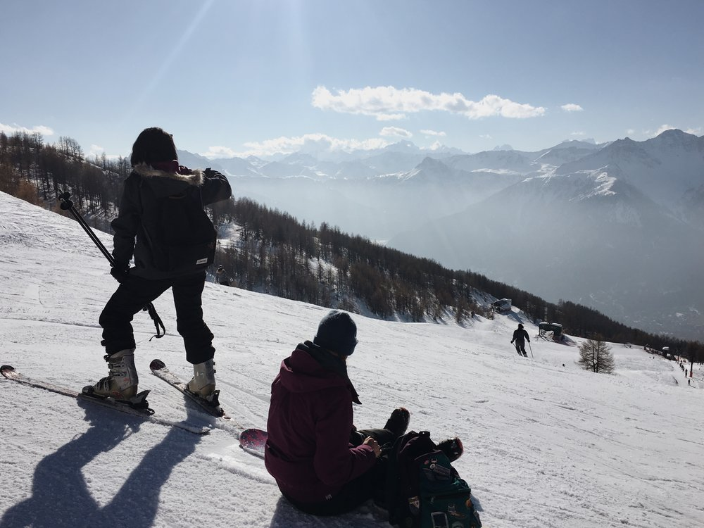 Snowboarding and Skiing in Italy last year