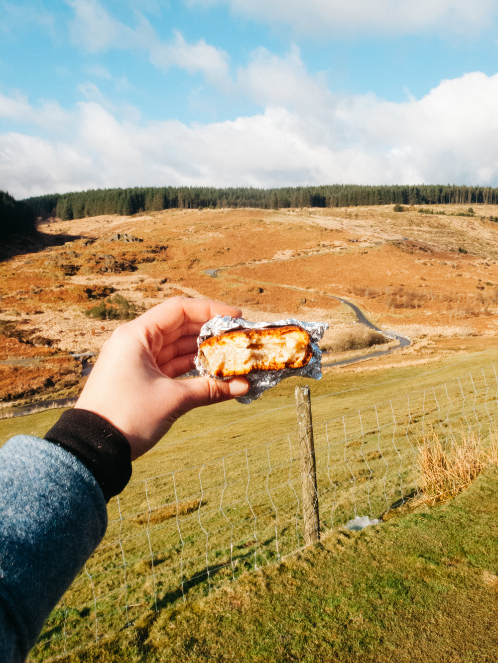 Homemade Banana cake with a view