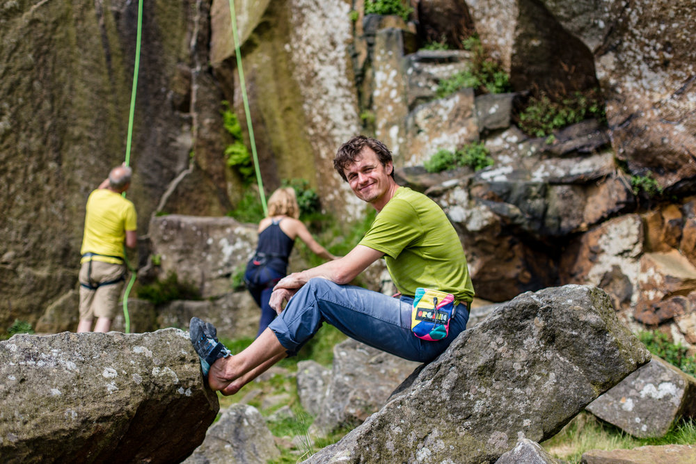Rob of UK Climbing at the crag