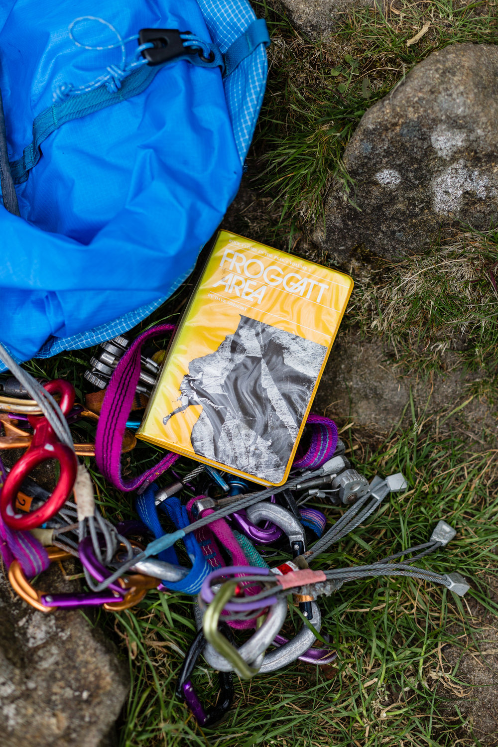 old-school gear and guidebooks - I loved this!
