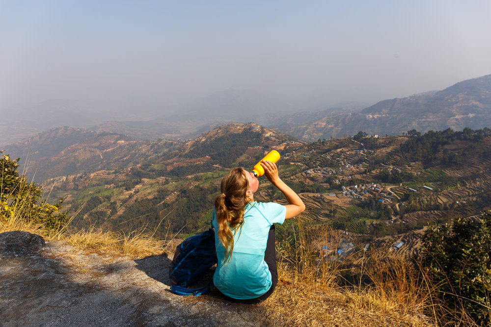 Using a Hydroflask in Nepal