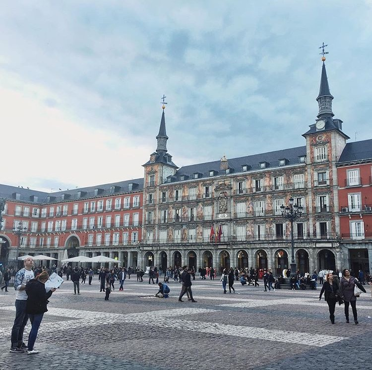 Plaza Mayor, Madrid, Spain –Saved 300$ on my ticket to Madrid by using Airfare Watchdog