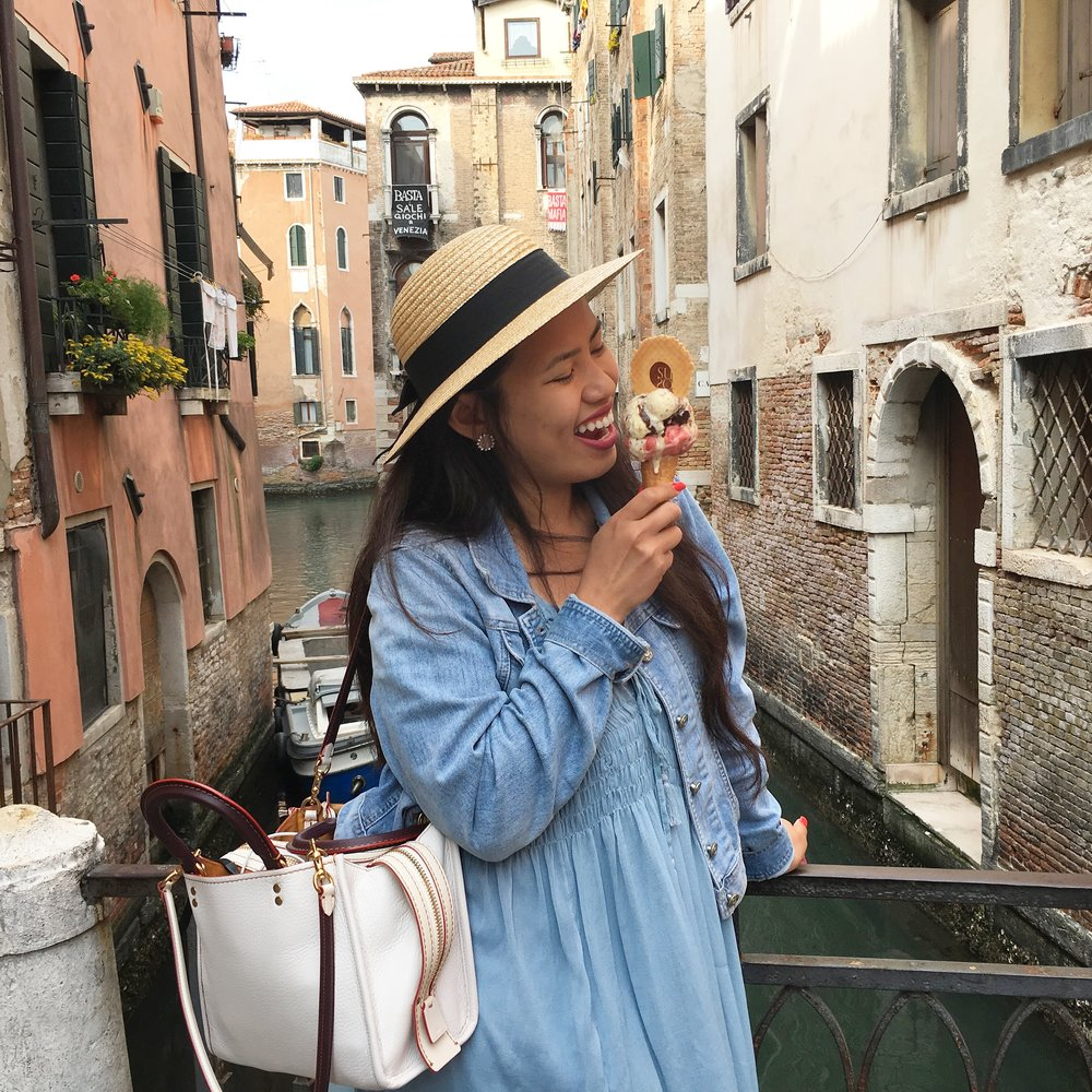 Eating my body weight in gelato in  Venice, Italy